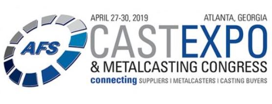 AFS Cast Expo and Metal Casting Congress in Atlanta, Georgia on April 27-30, 2019. Connecting suppliers, metalcasters, and casting buyers
