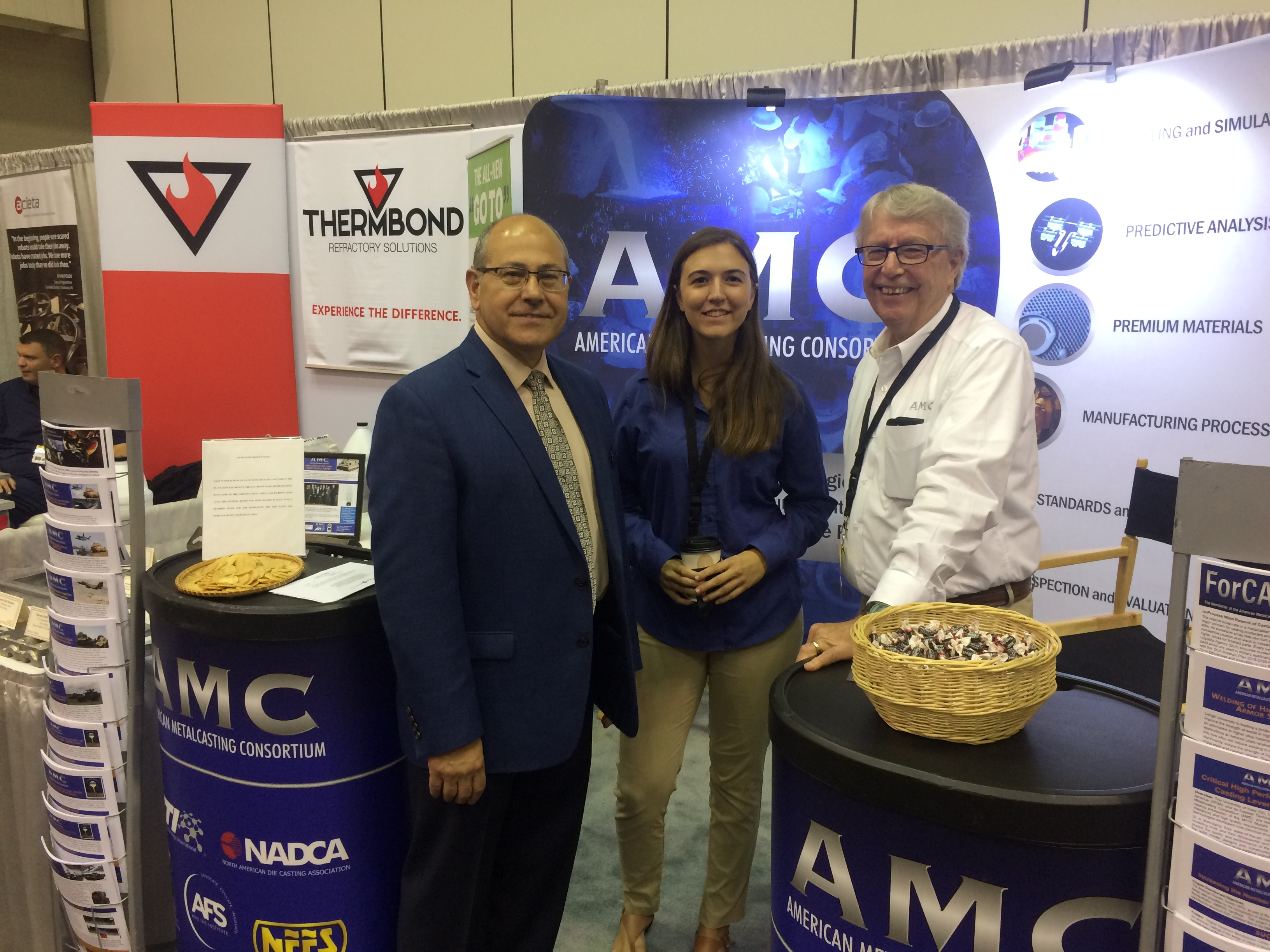 Steve, Julia, and Jim at the 2018 NADCA Die Casting Congress